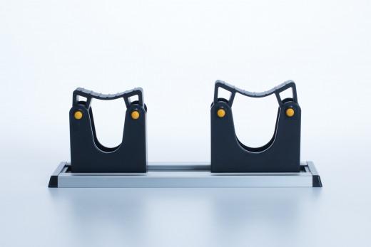 Toolflexhalter 15-20mm schwarz mit Schiene 20cm
