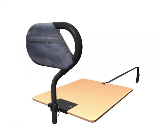Bettgriff für Krankenbett mit Holzbasis BedCane