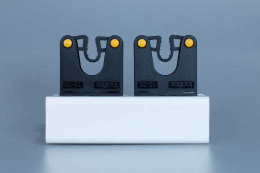 Klemmprofil mit 2 Gehstützenhalter für Rohrdurchmesser 15-20mm