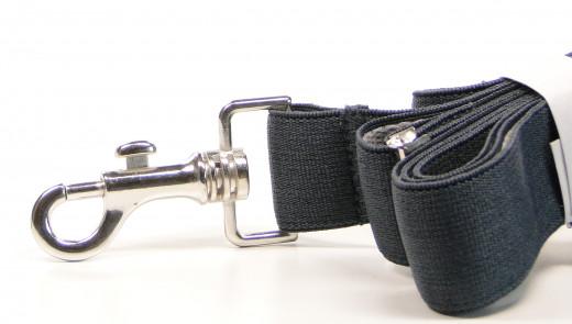 Krückenband und Halteband für Unterarmgehstützen schwarz