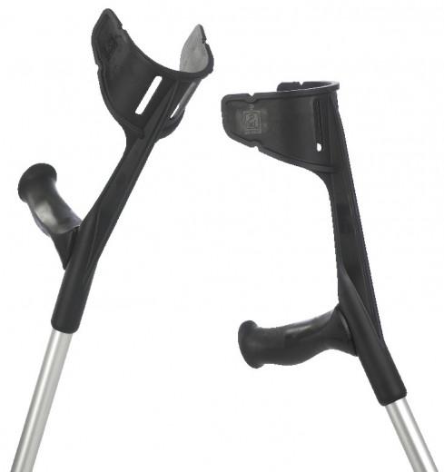 2 Stck. Gehhilfen Unterarm-Gehstützen Krücken Magic-Soft schwarz