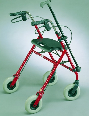 Rollator Rollstuhl Gehstockhalter für 20mm Rohre und Gehstöcke mit D=15-20mm