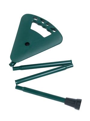 Flipstick Sitzstock faltbar extra kurz mit Tasche dunkelgrün mit Gehhilfenanker