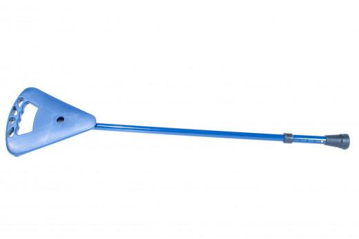 Flipstick Sitzstock  Teleskopstock Wanderstock mit Sitz Farbe blau