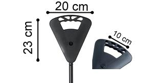 Flipstick Sitzstock extra lang schwarz