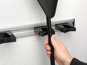 Aluminium Wandschiene 125cm  für Toolflex Halter